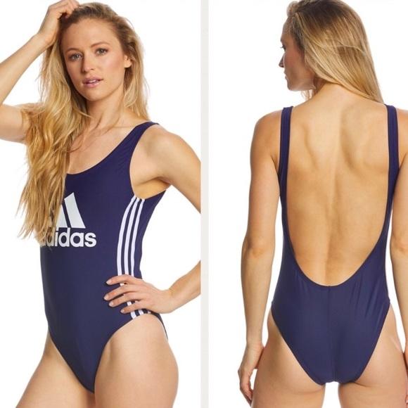 NWT retro Adidas navy blue swimsuit NWT